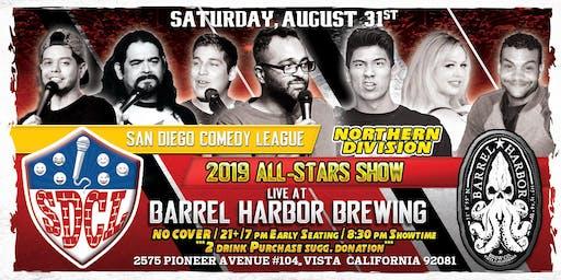SD Comedy League 2019: North All-Stars @ Barrel Harbor Brewing: 8/31/19