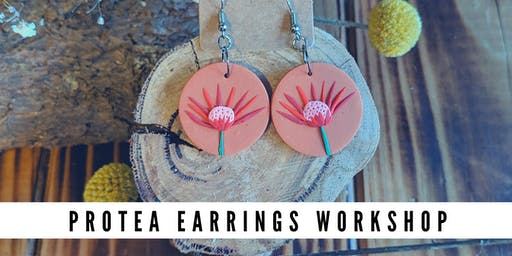 Polymer Clay Protea Earrings workshop