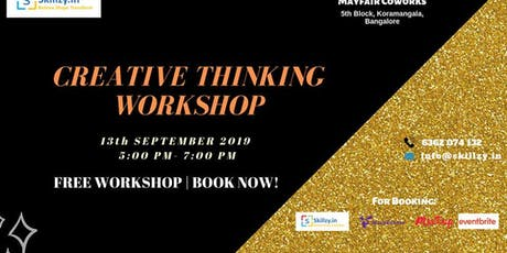 CREATIVE THINKING WORKSHOP tickets