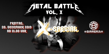 Metall Battle X Special Edition Tickets