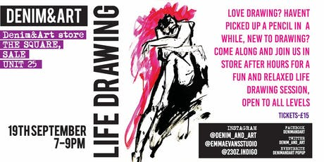 LIFE DRAWING-at Denim&Art tickets