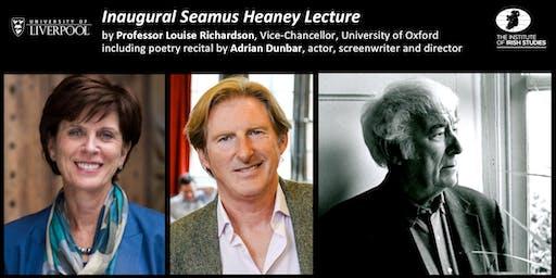 Inaugural: The Annual Seamus Heaney Lecture 2019