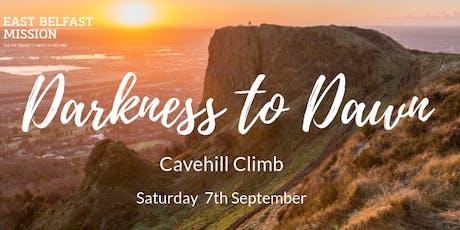 East Belfast Mission Darkness to Dawn Cavehill Climb tickets
