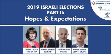 2019 Israeli Elections Part II: Hopes and Expectations tickets