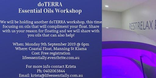 Coastal Float workshop - essential oils to compliment your floating