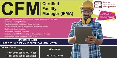 Certified Facility Manager Training ( CFM ) Sat -Mon - Wed Evening Training tickets