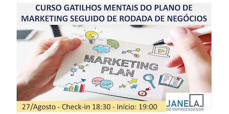 Curso: GATILHOS MENTAIS DO PLANO DE MARKETING ingressos