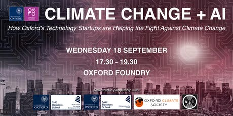 Climate Change + AI | How Oxford's Technology Startups are Helping the Fight Against Climate Change tickets