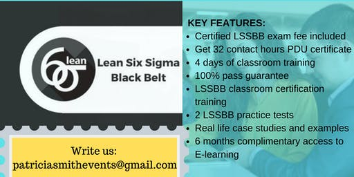 LSSBB Classroom Certification Training in Independence, CA