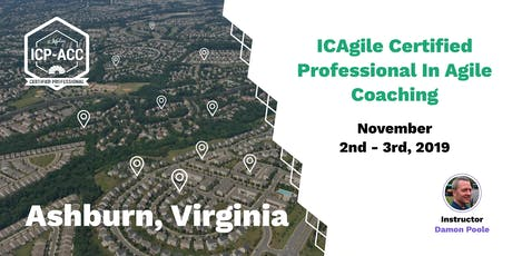 Agile Coach Workshop with ICP-ACC Certification Ashburn Nov 2 tickets
