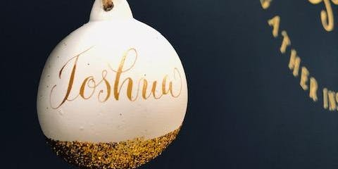 Beginner's Modern Calligraphy with a Christmas twist
