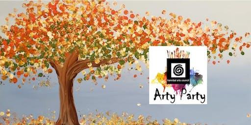 ARTY PARTY:Fall Splatter Tree