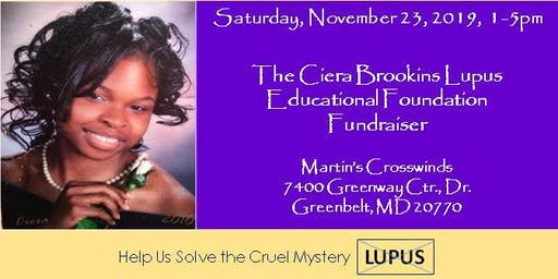 Edgar Brookins Birthday Celebration & The Ciera Brookins Lupus Educational Foundation Fundraiser