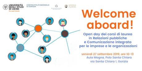 Welcome Aboard! - Open day corsi di laurea (Gorizia) tickets