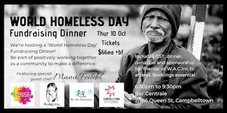 World Homeless Day - Fundraising Dinner tickets