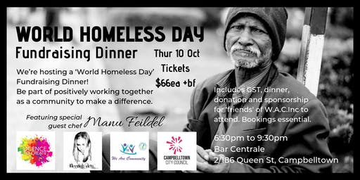 World Homeless Day - Fundraising Dinner