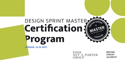 Design Sprint Master Certification Program - London