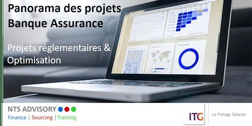 Panorama des projets Banque assurance-Projets réglementaires & Optimisation