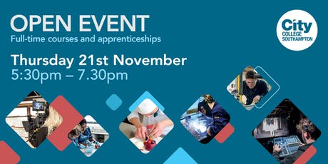 City College Southampton Open Event - 21st November tickets