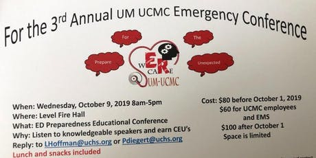 3rd Annual UM UCMC Emergency Conference tickets