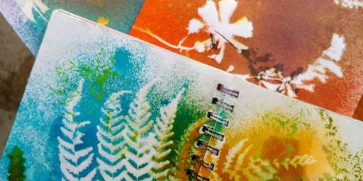 Garden Art Journals & Natural Prints