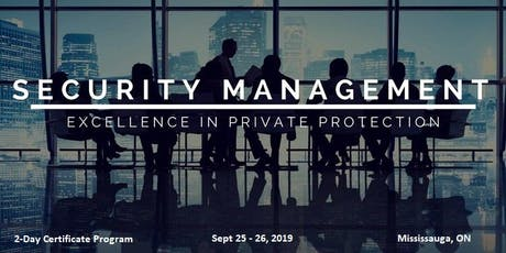 Security Management - 2-Day Certificate Program tickets