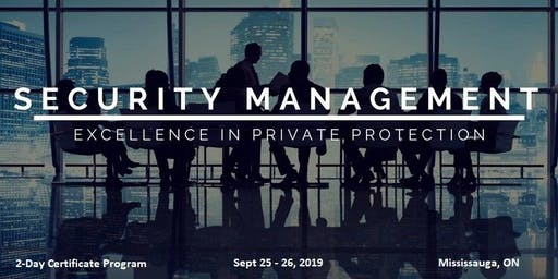 Security Management - 2-Day Certificate Program