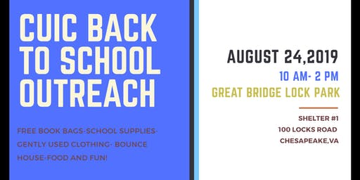 CUIC BACK TO SCHOOL OUTREACH