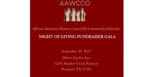 AAWCCO - A Night Of Giving Gala Fundraiser