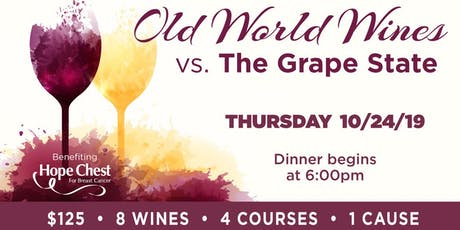 Old World Wines vs. The Grape State - 4 Course Wine Dinner tickets