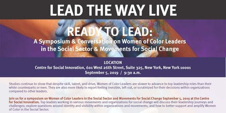 LTW LIVE: Ready to LEAD: Women of Color Leaders in the Social Sector tickets