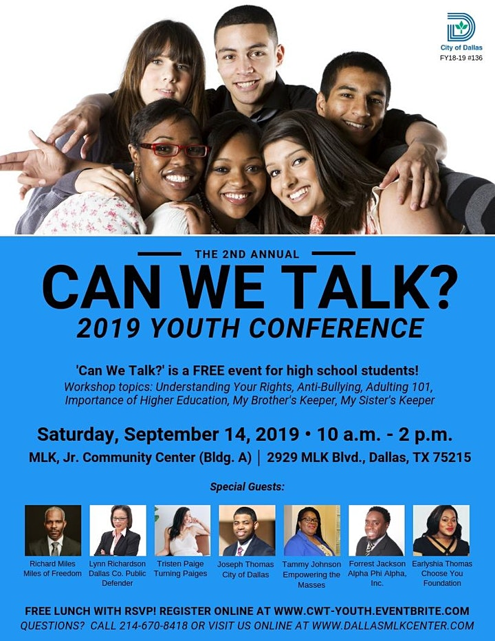 Can We Talk? Youth Conference image
