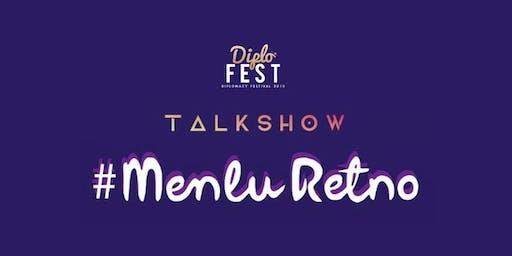 Talkshow #IniDiplomasi bersama #MenluRetno di #DiploFest Semarang