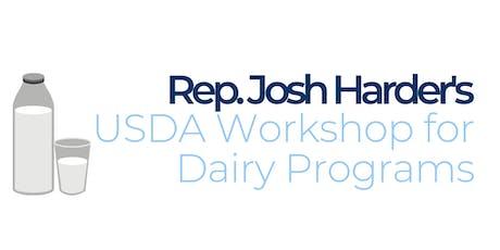 Rep. Josh Harder's USDA Workshop tickets