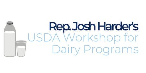 Rep. Josh Harder's USDA Workshop