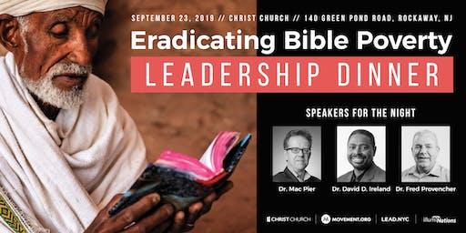 Eradicating Bible Proverty: Leadership Dinner