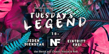 Tuesday¡s Legend// Eintritt frei [die ganze Nacht] Tickets