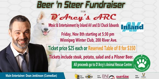 Charity Beer 'n Steer Fundraiser for D'Arcys Animal Rescue Centre