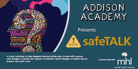 safeTALK - suicide alertness tickets