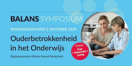 Ouderbetrokkenheid in het Onderwijs - Regiosymposium Balans Noord-Nederland tickets