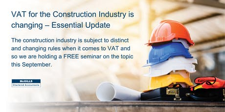 VAT Seminar for the Construction Industry tickets