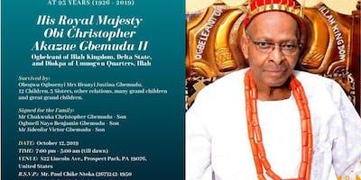 Wake Keeping Of His Royal Majesty Obi Christopher Akazue Gbemudu II