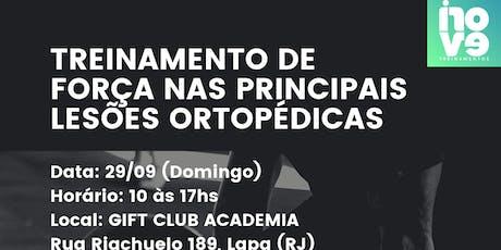 Treinamento de Força nas Principais Lesões Ortopéd ingressos