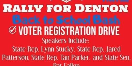 Rally for Denton County Back to School Bash