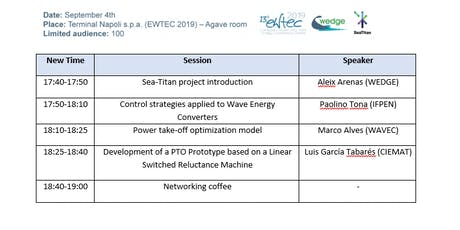 SeaTitan Workshop at EWTEC2019 biglietti