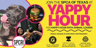 Yappy Hour: Happy Hour for Animal Lovers