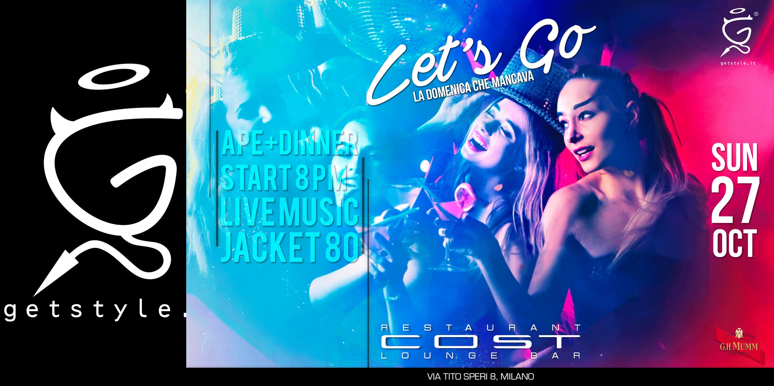 Let's Go - Aperitivo+Dinner at COST Restaurant - Lista GETSTYLE