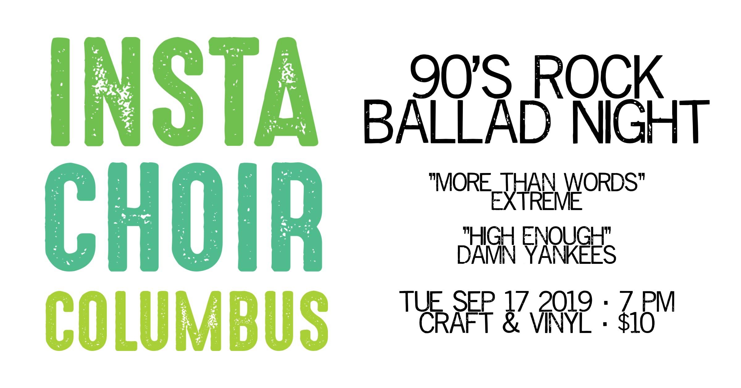 InstaChoir Columbus: 90's Rock Ballad Night