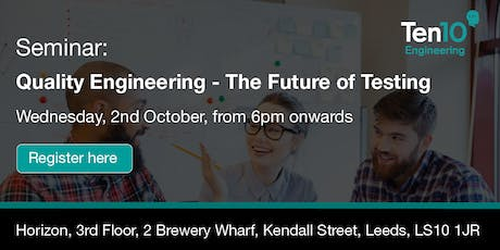 Quality Engineering - The Future of Software Testing tickets