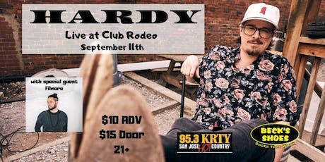 95.3 KRTY and BECKS SHOES PRESENT HARDY WITH Special Guest Filmore tickets